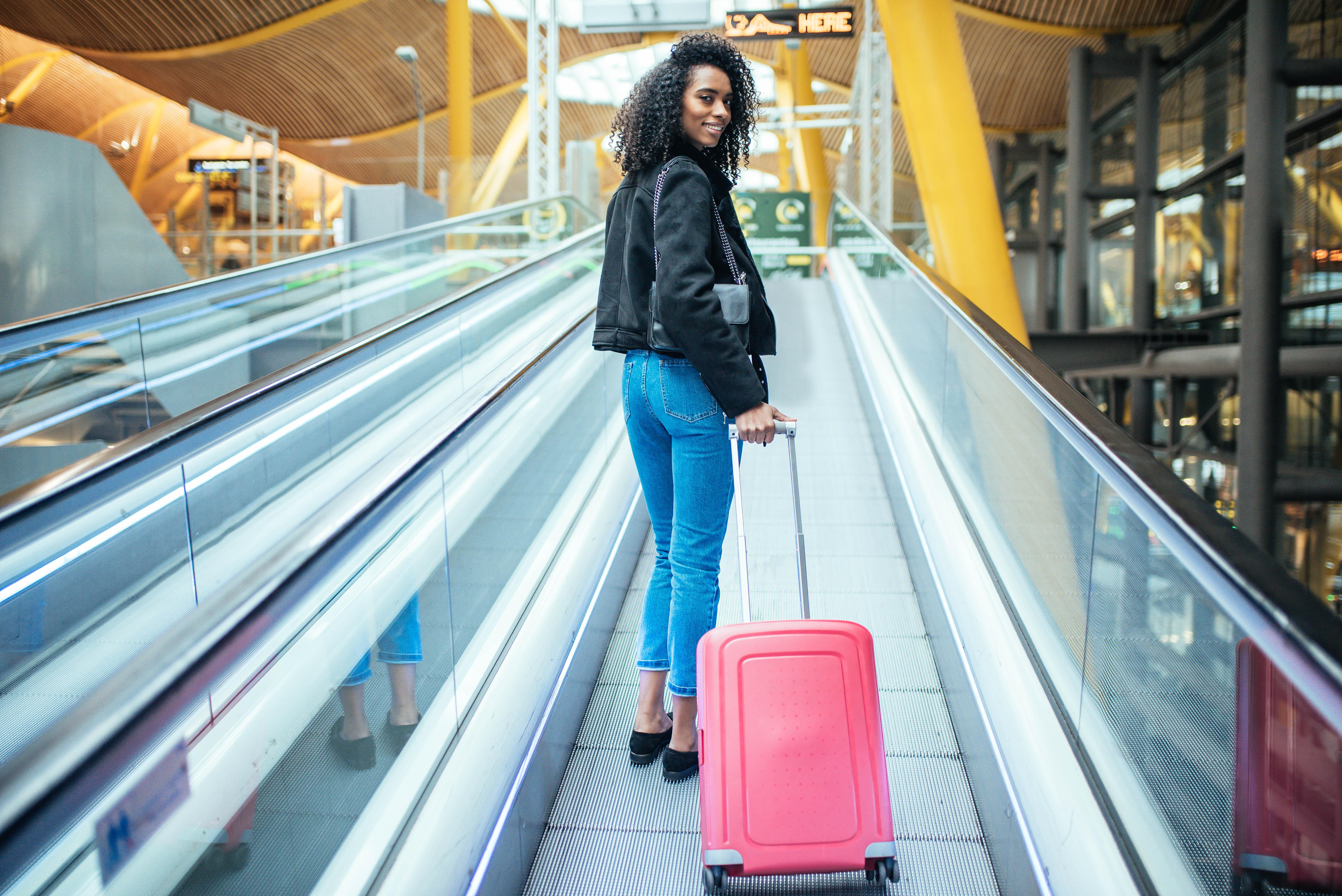 black women in airport